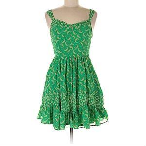 🔥Sale Lauren Conrad green floral flowy dress